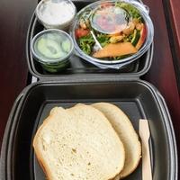 Sandwich Bieslook - roomkaas & komkommer