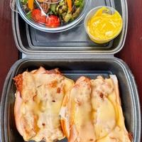 Sandwich Gerookte kip ananas, bacon & kaas