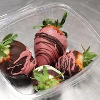 Aardbeien omhuld met Belgische chocolade