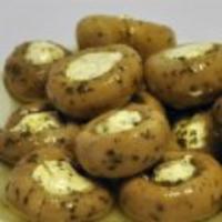 Champignons gevuld met geitenroomkaas 100gr